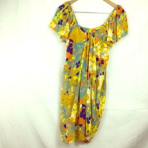 Catherine Malandrino Silk Faux Wrap Dress size 2